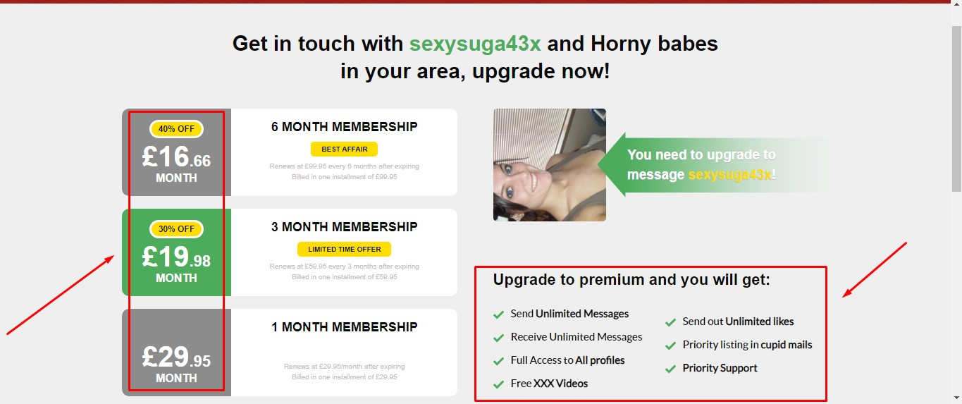 horny affairs prices
